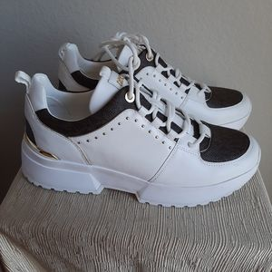 Michael Kors Cosmo MK panelled size 9 white